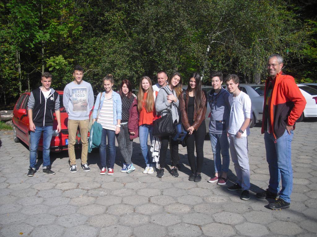 Gruppenfoto Fahrt zum 140 Schuljubiläum des Stasicz-Lyceums in Tarnowskie Góry