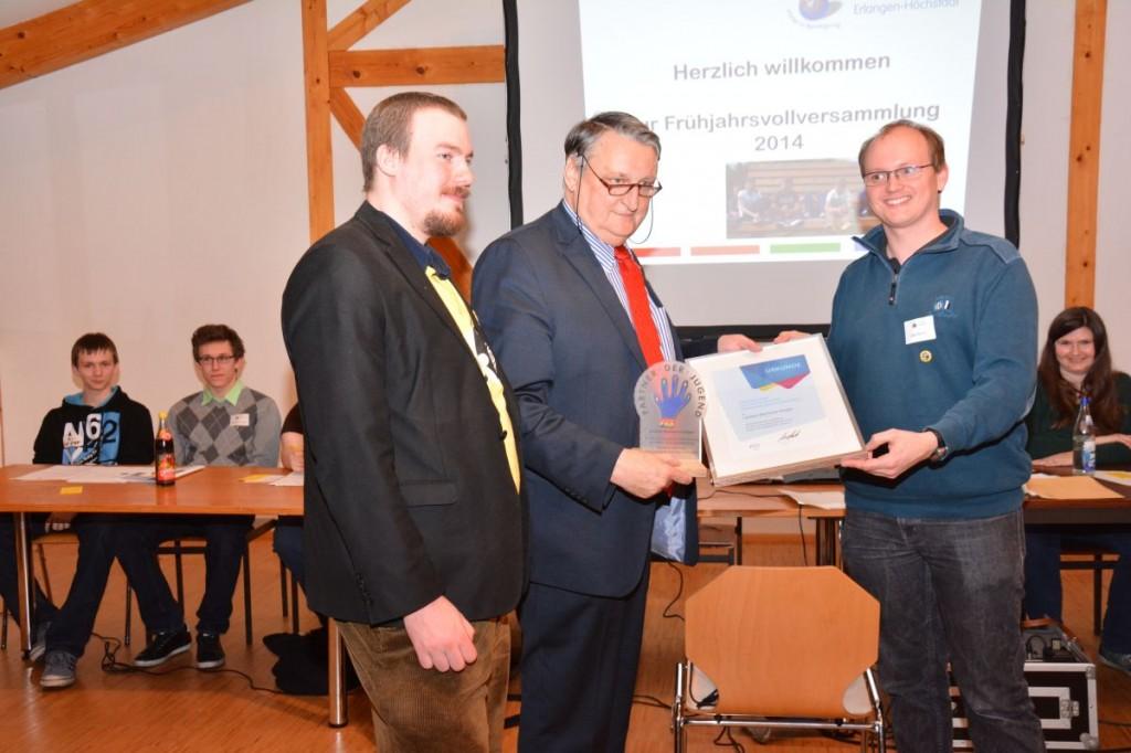 Landrat Eberhard Irlinger mit dem Vorsitzenden Udo Rathje
