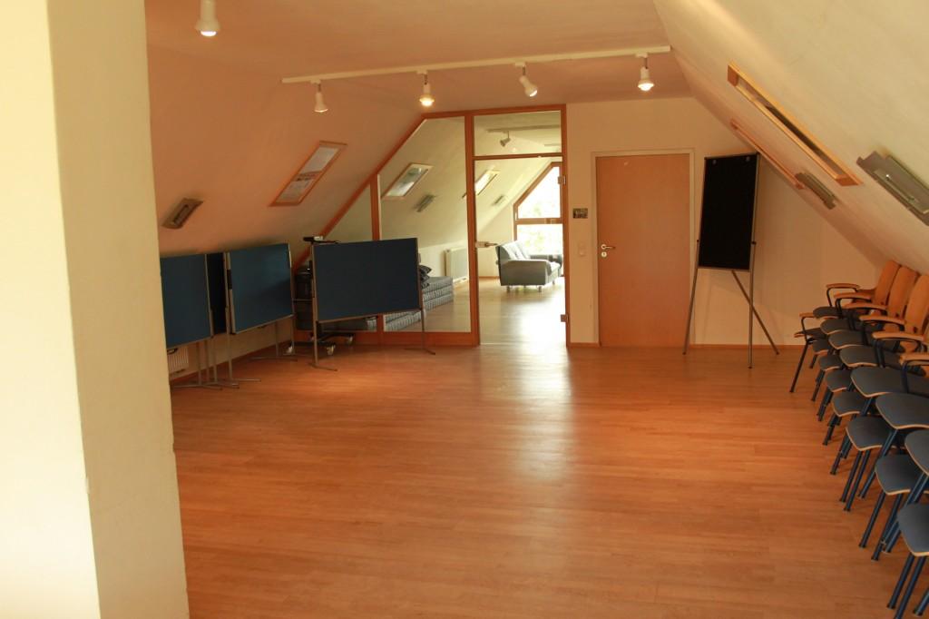 Seminarräume im Dachgeschoss des Hauses