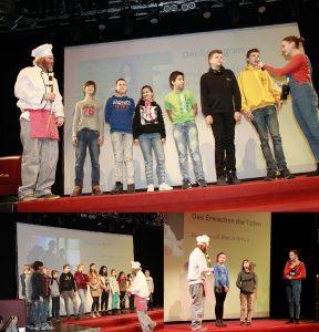 Die Filmteams des Mediencamps, der Theater- und Filmgruppe vom Röbalino und die Filmgruppe der Pfadfinder Bubenreuth